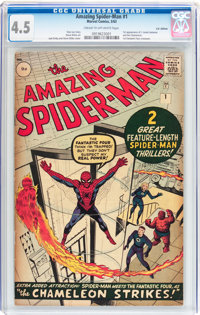 The Amazing Spider-Man #1 UK Edition (Marvel, 1963) CGC VG+ 4.5 Cream to off-white pages