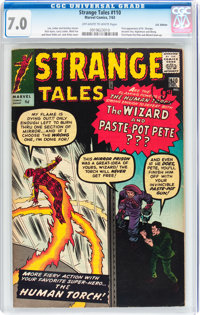 Strange Tales #110 UK Edition (Marvel, 1963) CGC FN/VF 7.0 Off-white to white pages