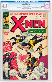 X-Men #1 UK Edition (Marvel, 1963) CGC FN+ 6.5 Off-white to white pages