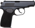Handguns:Semiautomatic Pistol, German Makarov Semi-Automatic Pistol with Leather Holster....