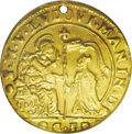 Italy:Venice, Italy: Venice. Lodovico Manin gold Ducato GF (1789), KM-Pn62, NCSVF Details, holed & improperly cleaned. Extremely rare goldstrik...