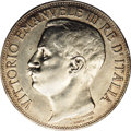 Italy: , Italy: Vittorio Emanuele III 5 Lire 1911R, KM53, XF-AU, lightlycleaned but with some original luster, struck to commemorate the50...