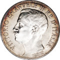 Italy: , Italy: Vittorio Emanuele III 5 Lire 1911R, KM53, choice AU-UNC,light russet toning in the legends, a very attractive example ofth...