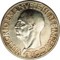 Italy: , Italy: Vittorio Emanuele III 20 Lire 1936R, KM81, lustrous AU-UNCwith attractive toning in the reverse legends, lightly cleaned,r...