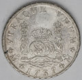 Mexico: , Mexico: Philip V 8 Reales 1737-MF, KM103, cleaned XF with a nicestrike for the issue....