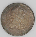 Mexico: , Mexico: Charles III 2 Reales 1774-FM, KM88.2, nicely toned, ChoiceAU with minor obverse adjustment marks....