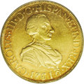 Mexico: , Mexico: Charles III gold 8 Escudos 1761-MM, KM153, AU53 PCGS.Sharply struck with abundant remaining luster in the protectedareas o...