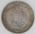 Mexico: , Mexico: Ferdinand VII 8 Reales 1821 Ga-FS, KM111.3, good XF withslate-gray toning and golden highlights....