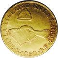Mexico: , Mexico: Hand on Book gold 8 Escudos 1850 Go-PF, KM383.7, XF and afairly available date in the series....