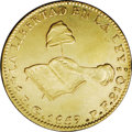 Mexico: , Mexico: Hand on Book gold 8 Escudos 1859 Go-PF, KM383.7, lightlycleaned XF-AU....