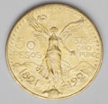 Mexico: , Mexico: Estados Unidos gold 50 Pesos 1921, KM481, lustrous AU-UNCwith light hairlines and contact marks....