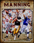Football Collectibles:Photos, Manning Family Signed Oversized Photograph....