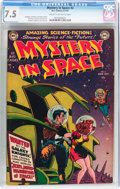 Golden Age (1938-1955):Science Fiction, Mystery in Space #2 (DC, 1951) CGC VF- 7.5 Cream to off-whitepages....