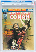 Magazines:Superhero, Savage Sword of Conan Annual #1 (Marvel, 1975) CGC NM/MT 9.8 Off-white to white pages....