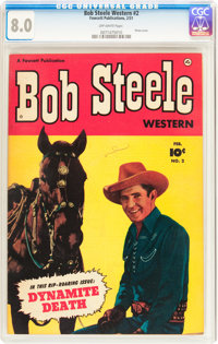 Bob Steele Western #2 (Fawcett Publications, 1951) CGC VF 8.0 Off-white pages