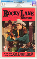 Golden Age (1938-1955):Western, Rocky Lane Western #8 Hawkeye pedigree (Fawcett Publications, 1949)CGC VF/NM 9.0 White pages....