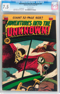 Golden Age (1938-1955):Horror, Adventures Into The Unknown #31 (ACG, 1952) CGC VF- 7.5 Off-whitepages....