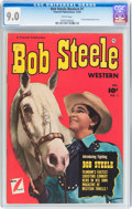 Golden Age (1938-1955):Western, Bob Steele Western #1 (Fawcett Publications, 1950) CGC VF/NM 9.0 White pages....