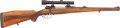 Long Guns:Bolt Action, Bohler Custom Mauser Bolt Action Rifle and Redfield 2 3/4X Bear CubScope....