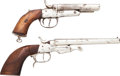 Handguns:Target / Single Shot Pistol, Lot of Two Double Barrel Pistols.... (Total: 2 Items)