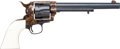 Handguns:Single Action Revolver, Miniature Colt Single Action Army Revolver by Uberti with LeatherHolster....