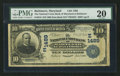 National Bank Notes:Maryland, Baltimore, MD - $10 1902 Date Back Fr. 616 The National Union Bankof Maryland Ch. # (E)1489. ...