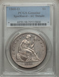 Seated Dollars, 1860-O $1 -- Spot Removed -- PCGS Genuine. AU Details. NGC Census:(30/646). PCGS Population (71/933). Mintage: 515,000. Nu...