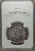 Bust Half Dollars: , 1812 50C Large 8 AU53 NGC. NGC Census: (55/474). PCGS Population(77/384). Mintage: 1,628,059. Numismedia Wsl. Price for pr...