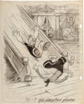 Animation Art:Production Drawing, Ghosks is the Bunk Popeye and Olive Oyl Theatrical PosterPreliminary Drawing (Fleischer Studios, 1939)....