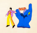 Animation Art:Production Cel, Beatles Yellow Submarine John and Flying Glove ProductionCel Setup (United Artists/King Features, 1968)....