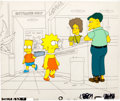 "Animation Art:Production Cel, The Simpsons ""Like Father, Like Clown"" Bart and Lisa SimpsonProduction Cel (Fox, 1991)...."