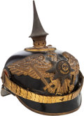 Military & Patriotic:WWI, Prussian Foot Guard Regiment of Foot Officers' Spiked Helmet. ...