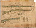 Militaria:Ephemera, Two U.S. Military Posters of Browning Automatic M1918 Trigger Guard,... (Total: 2 Items)