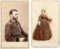 Photography:CDVs, Ulysses S. Grant and Wife: Group of Two Cartes de Visite.... (Total: 2 )