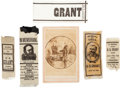 Political:Ribbons & Badges, [Death of Ulysses S. Grant]. Group of Five Ribbons and One Cabinet Card.... (Total: 6 )