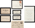 Miscellaneous:Ephemera, [Death of Ulysses S. Grant]. Group of Seven Items Related to theMemorial of Ulysses S. Grant... (Total: 7 )
