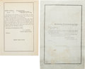 Miscellaneous:Ephemera, [Abraham Lincoln]. Two Funeral Orders.... (Total: 2 )