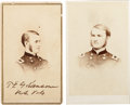 Photography:CDVs, General Thomas E. G. Ransom: Two Cartes de Visite, One Signed.... (Total: 2 )