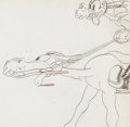 Animation Art:Production Drawing, Mickey's Polo Team Goofy Production Drawing Animation Art(Walt Disney, 1936)....