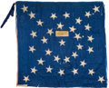 Military & Patriotic:Civil War, 33 Star Silk Flag Of The 55th Virginia Cavalry Carried at Harpers Ferry 1859 With Analysis From Fonda Thomsen...