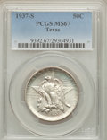 Commemorative Silver: , 1937-S 50C Texas MS67 PCGS. PCGS Population (101/0). NGC Census:(97/5). Mintage: 6,637. Numismedia Wsl. Price for problem ...