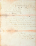 Autographs:U.S. Presidents, William McKinley Letter Signed....