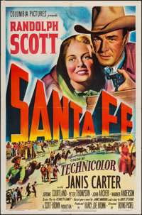 "Santa Fe & Other Lot (Columbia, 1951). One Sheets (2) (27"" X 41""). Western. ... (Total: 2 Items)"
