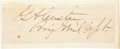 Autographs:Military Figures, George Armstrong Custer Clipped Signature....