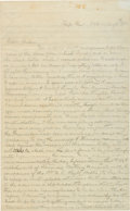 Autographs:Military Figures, Confederate Officer R. Channing Price 1861 Autograph Letter Signed....
