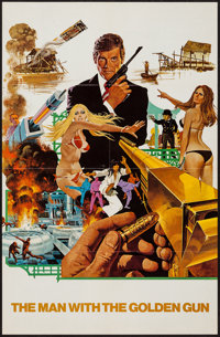 """The Man with the Golden Gun (United Artists, 1974). Exhibitor Poster Brochure (21.75"""" X 31"""") DS. James Bond..."""