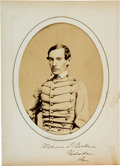 Photography:Studio Portraits, Union Officer William Sully Beebe: Signed West Point Graduation Photograph of Civil War Medal of Honor Recipient William Beebe...