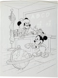Animation Art:Production Drawing, Minnie Mouse and Morty Book Illustration Original Art (Walt Disney,1994).... (Total: 2 Original Art)