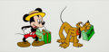 Animation Art:Seriograph, Mr. Mouse Takes a Trip Mickey Mouse and Pluto Limited Edition Sericel Animation Art (Walt Disney, 1980s)....