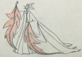 Animation Art:Production Drawing, Sleeping Beauty Maleficent Animation Art Pan ProductionDrawing (Walt Disney, 1959)....